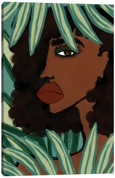 Lady In The Jungle Canvas Art Print