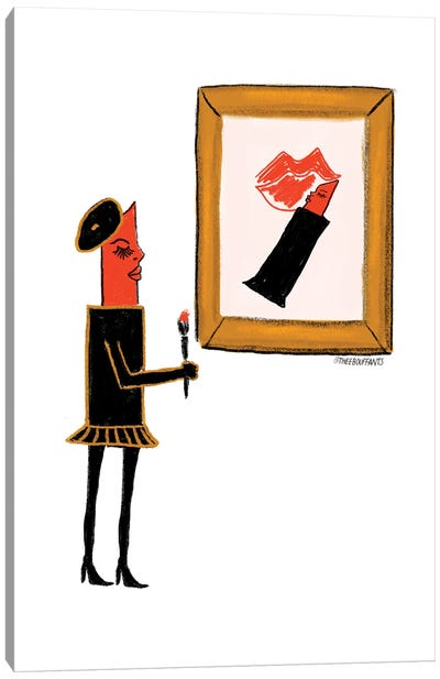 Make-Up Artist Canvas Art Print