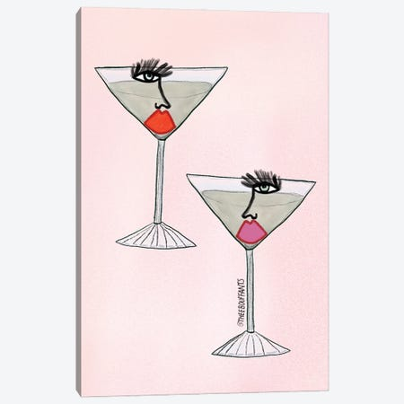 Martini Girls Canvas Print #BBH199} by Bouffants & Broken Hearts Canvas Print