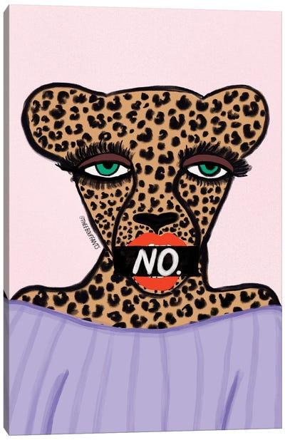 No Cheetah Canvas Art Print