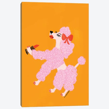 Poodle With Lipstick 3-Piece Canvas #BBH206} by Bouffants & Broken Hearts Canvas Wall Art