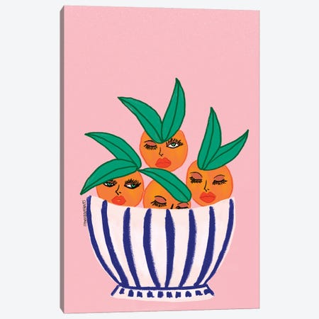 Sassy Orange Bowl Canvas Print #BBH209} by Bouffants & Broken Hearts Canvas Art Print