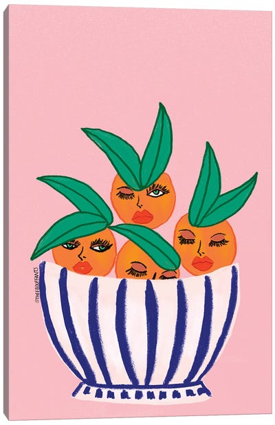 Sassy Orange Bowl Canvas Art Print