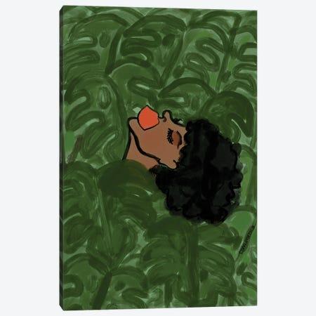 Basking In The Leaves Canvas Print #BBH220} by Bouffants & Broken Hearts Art Print