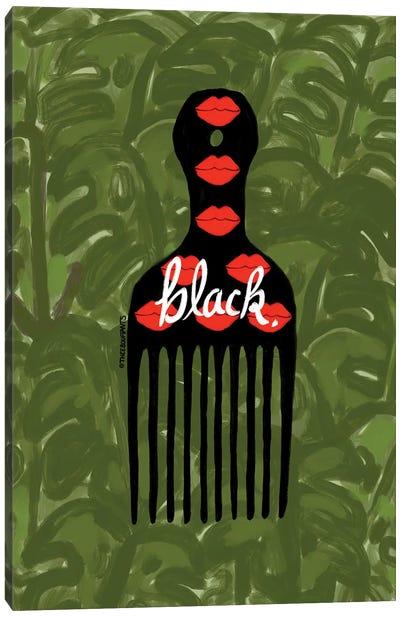 Black Fro Pick Canvas Art Print