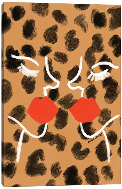 Glam Abstract Faces Canvas Art Print