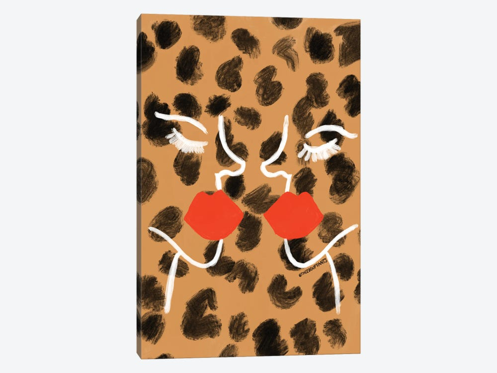 Glam Abstract Faces by Bouffants & Broken Hearts 1-piece Canvas Wall Art