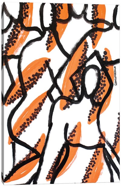 Papaya Figures Canvas Art Print