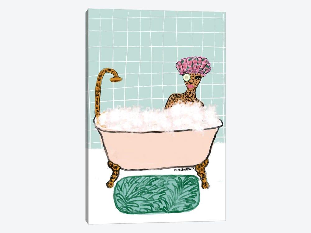 Bathtub Cheetah by Bouffants & Broken Hearts 1-piece Canvas Artwork