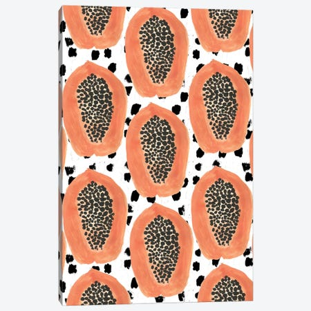 Big Papayas Canvas Print #BBH25} by Bouffants & Broken Hearts Art Print