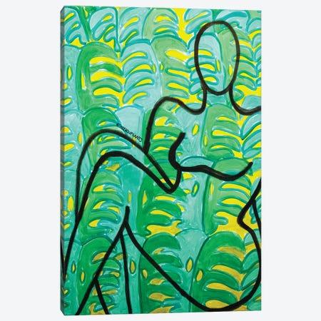 Tropical Lounger Canvas Print #BBH278} by Bouffants & Broken Hearts Canvas Art