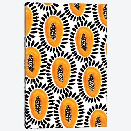 Bold Papayas II Canvas Print #BBH33} by Bouffants & Broken Hearts Canvas Art Print