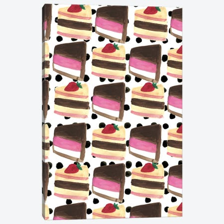 Cake Slices Canvas Print #BBH35} by Bouffants & Broken Hearts Canvas Artwork