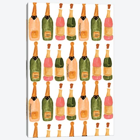 Champagne 3-Piece Canvas #BBH36} by Bouffants & Broken Hearts Canvas Wall Art