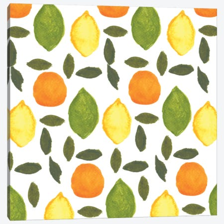 Citrus Canvas Print #BBH39} by Bouffants & Broken Hearts Canvas Print