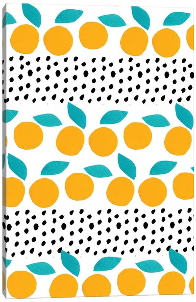 Citrus Dots Canvas Art Print