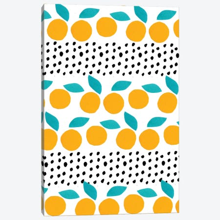 Citrus Dots Canvas Print #BBH41} by Bouffants & Broken Hearts Canvas Wall Art