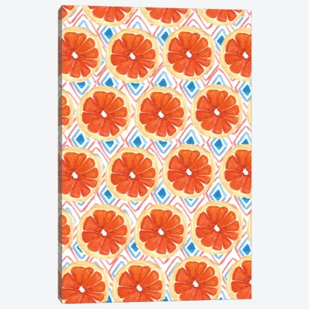 Citrus Geo Canvas Print #BBH42} by Bouffants & Broken Hearts Canvas Wall Art