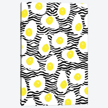 Egg Vibes Canvas Print #BBH57} by Bouffants & Broken Hearts Canvas Wall Art