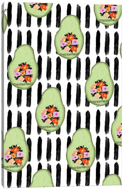 Flower Avocados Canvas Art Print