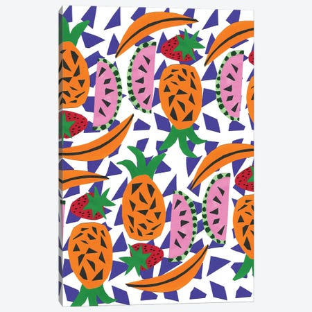 Fruit Party IV 3-Piece Canvas #BBH66} by Bouffants & Broken Hearts Canvas Print
