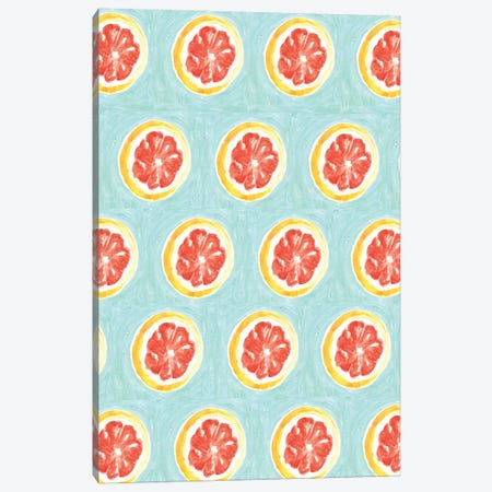 Grapefruit II Canvas Print #BBH72} by Bouffants & Broken Hearts Canvas Print