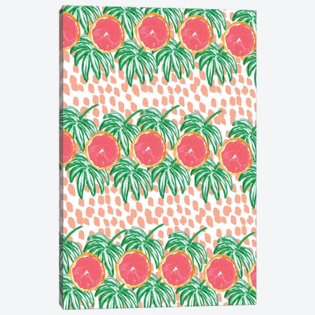 Grapefruit I Canvas Print #BBH73} by Bouffants & Broken Hearts Canvas Print