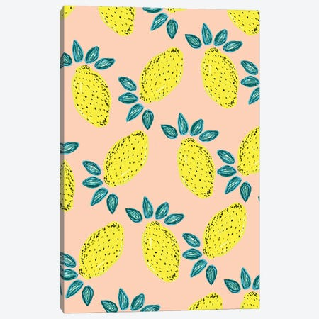 Lemon Party Canvas Print #BBH80} by Bouffants & Broken Hearts Canvas Wall Art