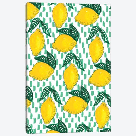 Lemons I Canvas Print #BBH81} by Bouffants & Broken Hearts Canvas Wall Art
