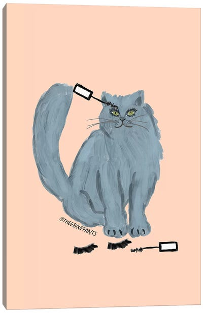 Mascara Cat Canvas Art Print
