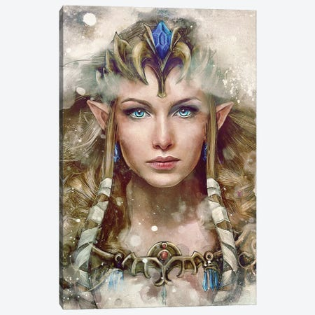 The Epic Princess Canvas Print #BBI100} by Barrett Biggers Art Print
