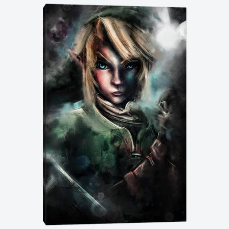The Epic Warrior Canvas Print #BBI101} by Barrett Biggers Canvas Print