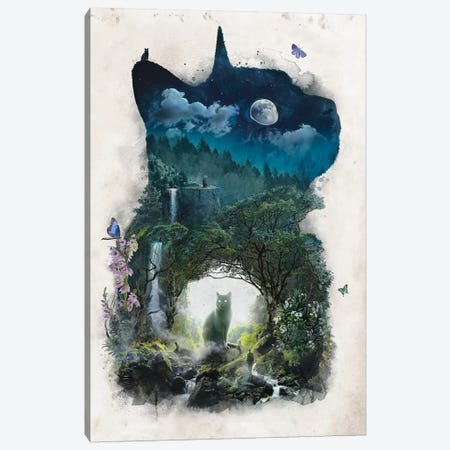 The Realm Of Cats Canvas Print #BBI104} by Barrett Biggers Canvas Wall Art
