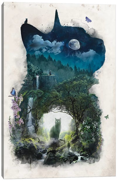 The Realm Of Cats Canvas Art Print