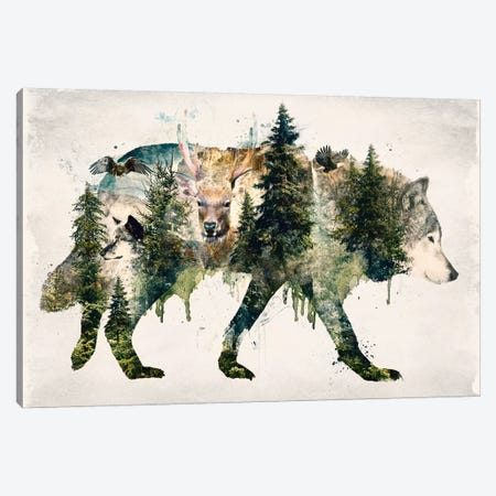 Walk With Wolves Canvas Print #BBI109} by Barrett Biggers Canvas Print