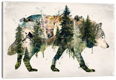 Walk With Wolves Canvas Art Print