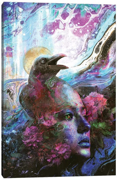 Raven Memories Canvas Art Print