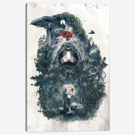 Beware The Door Canvas Print #BBI11} by Barrett Biggers Canvas Artwork