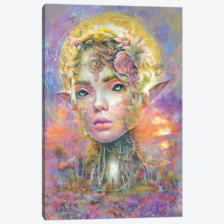 Sunset Dryad Canvas Print #BBI120} by Barrett Biggers Canvas Print