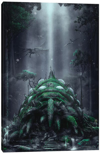 The Fungus Forest Canvas Art Print