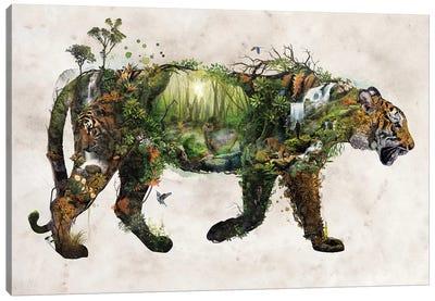 Surreal Tiger Canvas Art Print