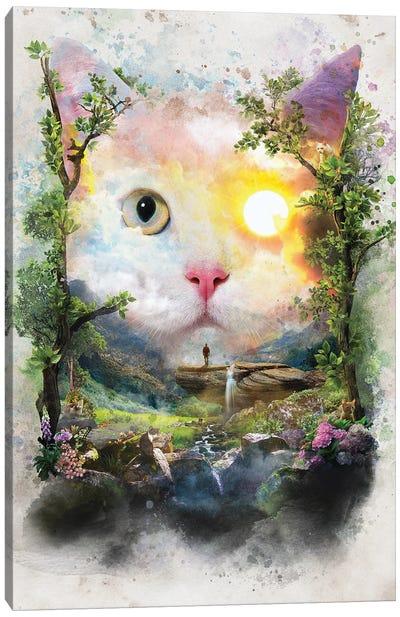 Day Cat Canvas Art Print