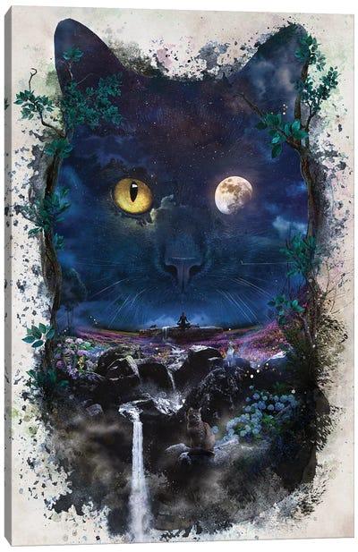 Night Cat Canvas Art Print