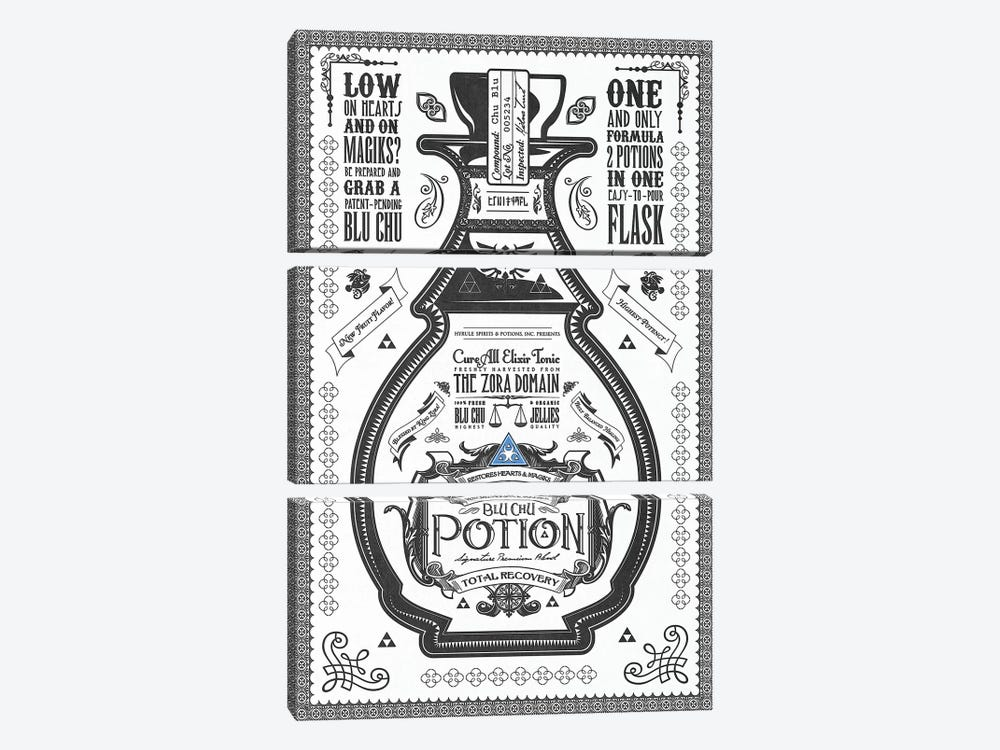 Blue Potion by Barrett Biggers 3-piece Canvas Wall Art
