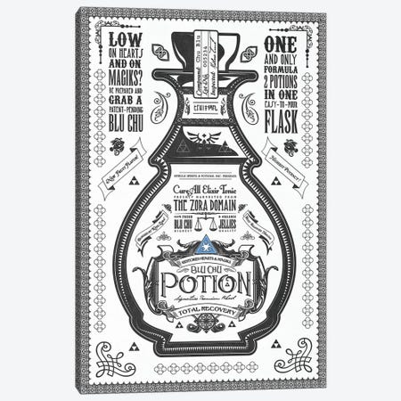 Blue Potion Canvas Print #BBI13} by Barrett Biggers Canvas Artwork