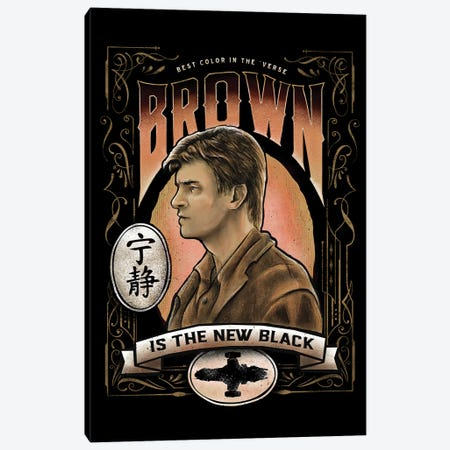 Brown Is The New Black 3-Piece Canvas #BBI14} by Barrett Biggers Canvas Art Print