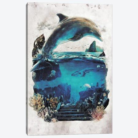 Dolphin Surreal 3-Piece Canvas #BBI23} by Barrett Biggers Canvas Print