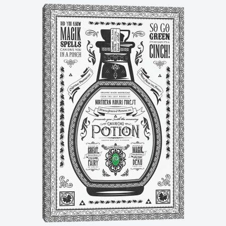 Green Potion Canvas Print #BBI43} by Barrett Biggers Canvas Art Print