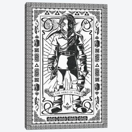 Hero Of Time Canvas Print #BBI44} by Barrett Biggers Canvas Art
