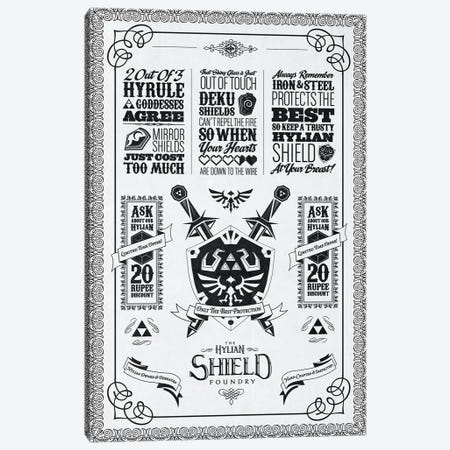 Heroic Shield Canvas Print #BBI46} by Barrett Biggers Canvas Art
